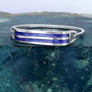 Taxco Mexican Bracelet Purple Alpaca Silver K07
